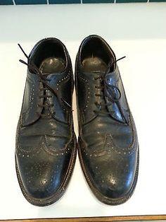 Chaussures en cuir pour homme 8.5 aile vintage noir par KolbiJean