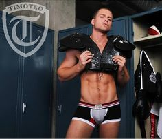 Doesn't everyone have of a locker room fantasy tucked away in the dirty corner of their mind? This Timoteo shoot just about makes those dreams a reality.