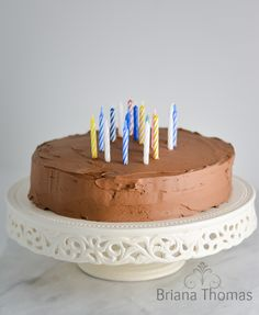 Whipped Chocolate Buttercream (and my 20th Birthday Cake!)
