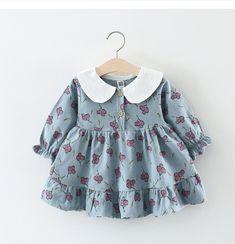 580c9bc50c66 Melarie Baby Girls Clothing 2018 Summer Girl Dress Cotton long sleeve  printing Princess Cherry Children Kids