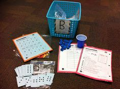 BUILD activities for math centers (using Investigation games)