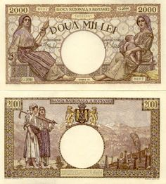 2 ooo Doua Mii Lei Romanian banknote issued in 01 09 1943 H xf Money Notes, Mail Art, Wwi, Banknote, Super Cars, Vintage World Maps, Nostalgia, Coins, The Past