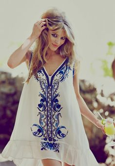 Spritely Spartan Shift (Crazy For Love Dress by Free People 2013)