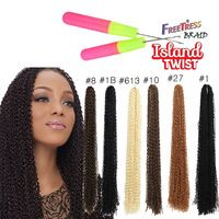 "Cheap Synthetic Freetress Curly Hair Weaving Zizi Micro Supreme Brazilian Fashion 24""Crochet Braiding Soft Tutorial Hair"