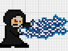 The Emperor Perler Bead Pattern Easy Perler Bead Patterns, Melty Bead Patterns, Beading Patterns, Minecraft Quilt, Minecraft Pixel Art, Star Wars Crafts, Pixel Art Templates, 8 Bits, Crochet Stars