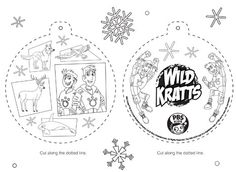 Wild Kratts Ornament Kids Coloring