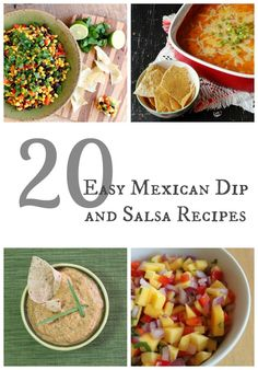 20 easy Mexican dip and salsa recipes! Perfect for Cinco de Mayo!