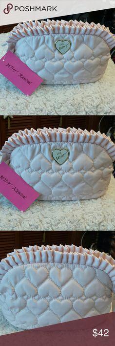 Betsy Johnson NWT Ruffle Blush Cosmetic Case Betsy Johnson NWT Large Ruffle Cosmetic Bag Betsy Johnson  Bags Cosmetic Bags & Cases