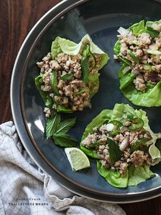 Thai Chicken Lettuce Cups are healthy and light and perfect as an app or my favorite weeknight dinner