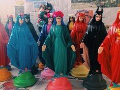 Juiz proíbe artista de fazer esculturas de santos inspiradas na cultura pop em Goiás (Foto: Reprodução/Facebook)