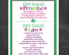 Brownie Girl Scout Promise & Law Meeting Board by BellaNoche1