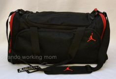 Nike Air Jordan Duffel Bag Black Red Gym Basketball Duffle Men Women Boy  Girl  Nike 0a797d5d29e87
