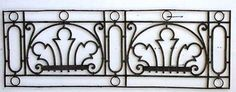European iron balcony railing sections.  Perfect for interior or exterior.  Great decorative pieces, or use them to create your own balcony!  Sizes of panels vary slightly so please…