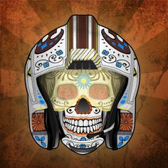 Top notch illustration of a rebel X-Wing pilot sugar skull by John Karpinsky. Prints are available at Johns Etsy Store. Related Rampages: Day of the Dead: Fett | Mynock Hunt Star Killer (Estrellas Asesino) by John Karpinsky (Etsy) (Facebook)