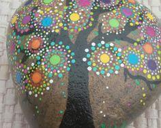 Concha arte piedra por GriffinArtStones en Etsy