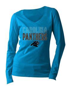 59237d026 NFL Carolina Panthers Women s Long Sleeve V Neck Jersey