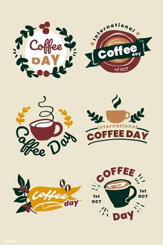 Discover recipes, home ideas, style inspiration and other ideas to try. Coffee Shop Logo, Coffee Label, Coffee Shop Design, Coffee Illustration, Manga Illustration, Cold Brew Coffee Machine, International Coffee, Cafe Logo, Image Fun