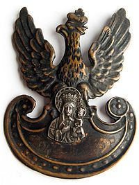 """This cap badge belonged to a soldier in Battalion (commanded by Cpt. """"Wilk"""" [Wolf] ) a unit of 204 pp Kielce Region (commanded by mjr Eugeniusz Kerner ps. Poland History, Visit Poland, Holy Cross, 10 Picture, Freemasonry, 3 D, Badges, Herb, Army"""