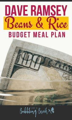 My Dave Ramsey Meal Plan For A Beans And Rice Budget [Free PDF] Totally going to try these cheap beans and rice recipes! If you're doing the Dave Ramsey baby steps you should try this meal plan too! Budget Meal Planning, Budget Meals, Frugal Meals, Budget Cooking, Easy Cooking, Groceries Budget, Money Budget, Budget Binder, Save Money On Groceries