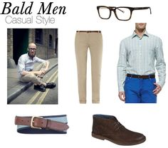 Casual for bald guy