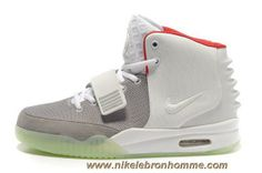 timeless design be1bc 44213 Pas Cher Blanc Rouge Nike Air Yeezy II Hommes Chaussures Air Yeezy 2, Gray,