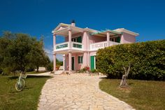 Holiday villa rental in Lefkada. Two story villa with impressive mountain and sea view. The villa with an impressive view to the sea but also to ...