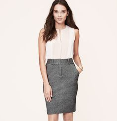 Curvy Fit Trouser Pencil Skirt | Loft