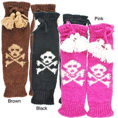 @Overstock - Rock a skirt even when it's chilly out with these colorful legwarmers. Fully fleece-lined and hand-knit in Nepal, these skull patterned legwarmers are the perfect addition to your wardrobe or a perfect gift.http://www.overstock.com/Worldstock-Fair-Trade/Hand-knit-Womens-Skeleton-Legwarmer-Nepal/6281461/product.html?CID=214117 $29.49