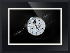 "Breguet Moonphase Triple Calendar Swiss Watch // Paper: enhanced matte; Glazing: acrylic; Moulding: black, wide square black; Top Mat: black/gray, vermeer black; Middle Mat: white/cream, canvas; Bottom Mat: black/gray, granite // Price starts at $139 (Petite: 18.5"" x 21.5""). // Customize at http://www.imagekind.com/Breguet-Moonphase-Triple-Calendar-Swiss-Timepiece_art?IMID=60cf7cc5-000e-433f-9585-738260b6974f"