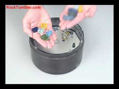 Making Tumbled Glass in a Rock Tumbler - YouTube It looks like beach glass.  I would love to have a rock tumbler.