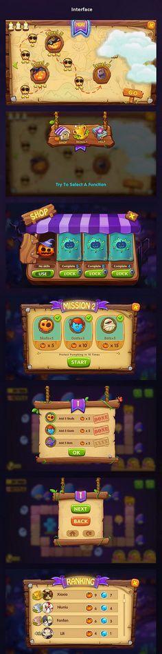 艾桔子采集到ui游戏界面。橘