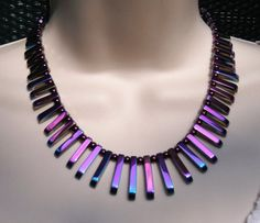 Hematite Reversable Necklace & Earrings by SOLD!