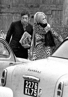 Serge Gainsbourg and Brigitte Bardot, 1967.