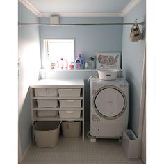 Stacked Washer Dryer, Washer And Dryer, Minimal Decor, Washroom, Bathroom Interior Design, Kitchen Organization, My Room, Laundry Room, Kitchen Design