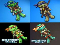 ninja turtles perler beads | Teenage Mutant Ninja Turtles perler beads by GeekMythologyCrafts