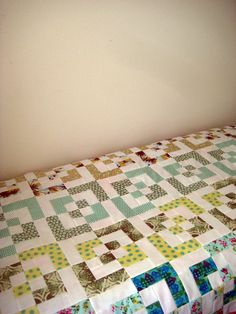 Bento Box Quilt Top.  That's neat, I love quilts!