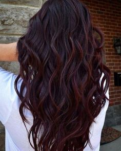Wine Hair is the best way for brunettes to rock Deep Purple this fall . - Wine Hair is the best way for brunettes to rock Deep Purple this fall – Samantha Fashion Life - Fall Hair Color For Brunettes, Fall Hair Colors, New Hair Colors, Hair Styles For Brunettes, Long Hair Colors, Hair Color Ideas For Brunettes Balayage, Cute Hair Colors, Different Hair Colors, Pelo Color Vino