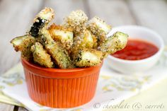 Baked Zucchini Fries from @chocandcarrots