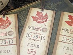 Rustic Autumn Wedding Save the Date by SunshineandRavioli on Etsy