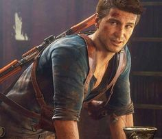 """""""I'm sorry..."""" Uncharted Series, Third Person Shooter, Nathan Drake, Comic, Dog Games, Adventure Games, Video Game Characters, God Of War, Games For Girls"""