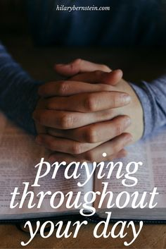 Love these ideas for making time to pray each day ...