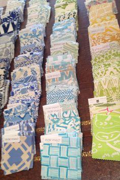 China Seas & Quadrille fabric display