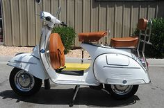 1967 VESPA VLB White ! - 100% Rebult - Original Italian Frame - all new parts ! in Scooters & Mopeds | eBay Motors