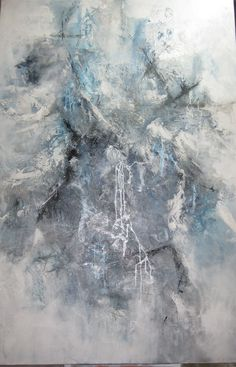 mixed media abstract  4'x6'  for Lindsay  by lee Anne Laforge