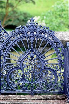 periwinkle - wrought iron gate at Bantry House, Ireland