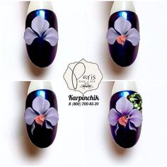 Best Nail Art Decorations To Choose 3d Nail Art, 3d Acrylic Nails, Cool Nail Art, Orange Nail Designs, 3d Nail Designs, Short Nail Designs, 3d Flower Nails, Nail Art Techniques, Short Nails Art