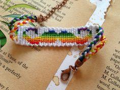 Alpha friendship bracelet pattern added by mustache rainbow twist bright simple. Friendship Bracelet Instructions, Cute Friendship Bracelets, Friendship Bracelet Patterns, Diy Bracelets Patterns, Yarn Bracelets, Bracelet Crafts, Diy Jewelry Making, Bracelet Making, Kawaii Gifts