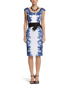 White House | Black Market Floral Printed Sheath. I love this dress just need somewhere to wear it.