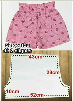 Sewing Kids Clothes, Baby Sewing, Diy Clothes, Dresses Kids Girl, Kids Outfits, Fashion Sewing, Kids Fashion, Sewing Shorts, Baby Frocks Designs