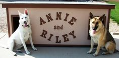 Annie and Riley - Washington:  several years of being tried and tested, this dog house has been proven to be the most comfortable and the safest home you can build for your beloved dogs.